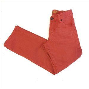 GAP Straight Leg Jeans, Orange color Girls Size 10